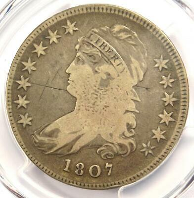 1807 Capped Bust Half Dollar 50C Coin 50/20 - PCGS VG Details - Rare Coin!