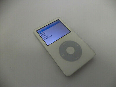 Apple A1136 iPod Classic 5th Gen, White, 30GB, MP3 Player, Tested, Good