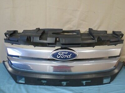 ✅ 10 11 12 Ford Fusion Front UPPER Radiator Grille Grill Chrome w Emblem OEM
