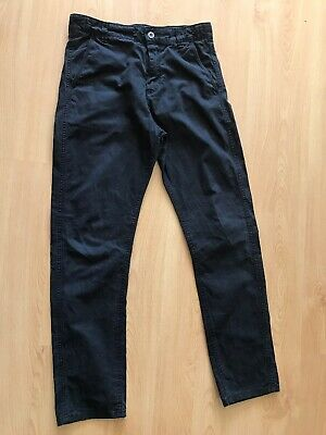 Marks & Spencer Boys Trousers Age 12-13 Yrs W30 L28 Black Excellent Condition