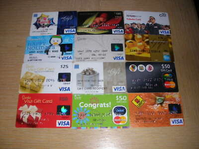 Credit Charge Cards   12 different new and used collectible gift cards