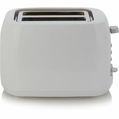 Home Kitchen 2 Slice Toaster With Long Slots Variable Heat Controls White 2000W