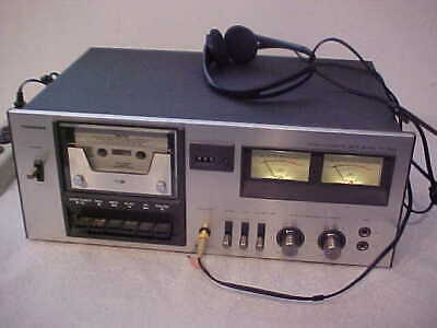 Vintage Toshiba Stereo Cassette Deck Model PC-2460 Recorder Player, TESTED Japan