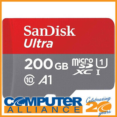 200GB SanDisk Ultra Micro SDXC UHS-I A1 Memory Card SDSQUAR-200G-GN6MN