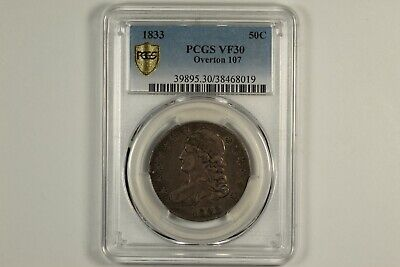 1833 Capped Bust Half Dollar PCGS VF30
