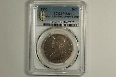 1836 Capped Bust Half Dollar PCGS VF30
