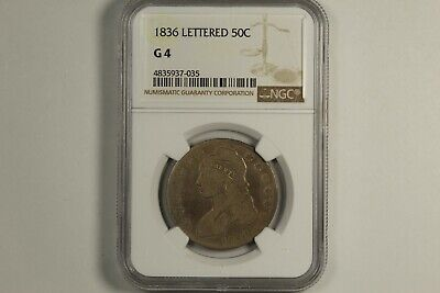 1836 Capped Bust Half Dollar NGC G4