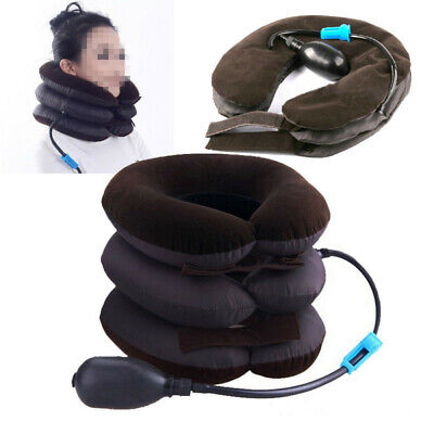 Cervical Neck Traction Air Inflatable Pillow Pain Relief Support Brace Device US