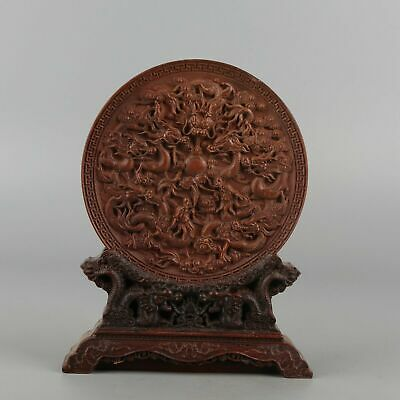 Chinese Exquisite Hand-carved Dragon Carving Boxwood statue