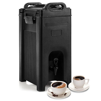 Insulated Beverage Server/Dispenser 5 Gallon Hot and Cold Drinks w/Handles Black