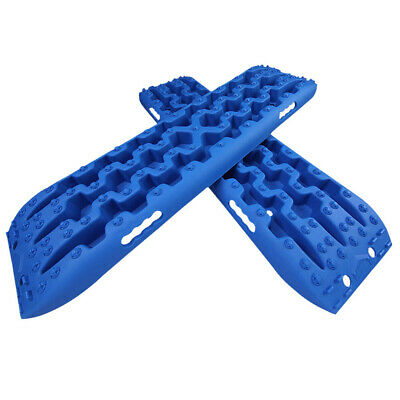 1 Pair Recovery Tracks Sand Track 2pc 10T Sand / Snow / Mud Trax 4WD Blue AU