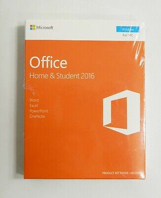 Microsoft Office 2016 Home and Student Windows English 1 User Key Card  EUROZONE