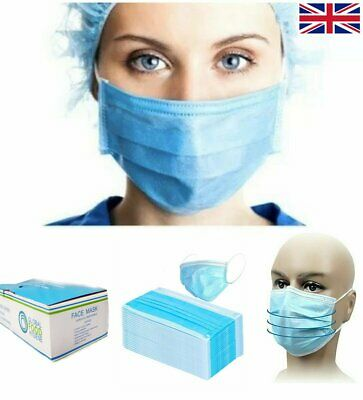 50Pcs Surgical Flu Virus Face Mask With Earloop Strip Surgical Medical Quality