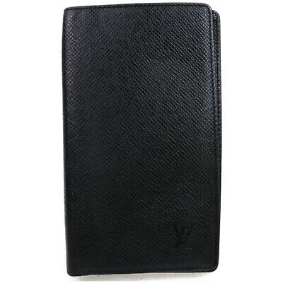 Authentic Louis Vuitton Diary Cover Agenda Posh Black Taiga 1200900