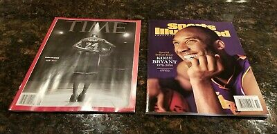 KOBE Bryant TIME Final Bow & Sports Illustrated Special Tribute Magazines 2020