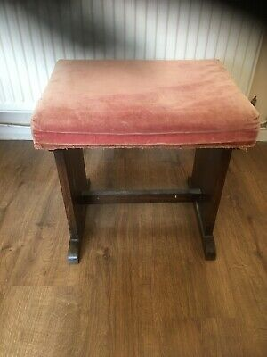 Vintage Antique Padded Stool