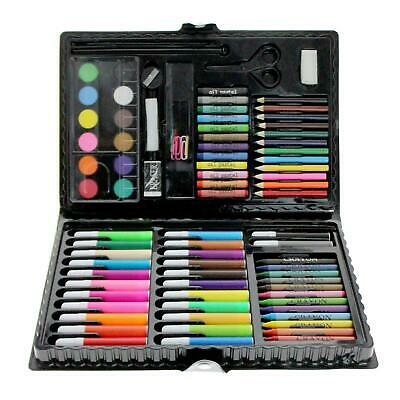 90pc Art Set Kids Watercolour Pens Crayons Pencils Sponge Scissors Oil Pastels