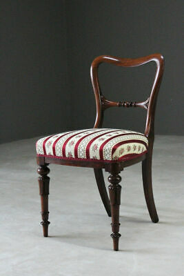 Quality Antique Single Victorian Rosewood Dining Chair