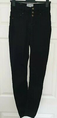 Ladies New Look Black High Waist Super Skinny STRETCHY stretch Jeans Size 10