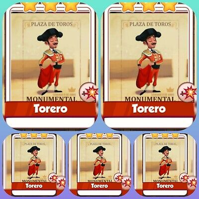 5 Torero *** Coin Master Game Cards. Get Cards Immediately.