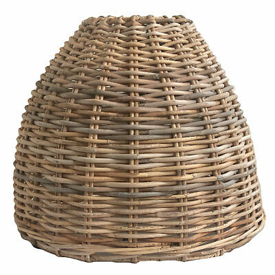 Cone Shaped Rattan Wicker Pendant Ceiling Lampshade in 3 Sizes