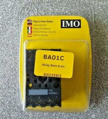 IMO Plug In Power Relays Base 8 pin BA01C