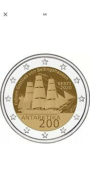 2 euro commémorative Estonie 2020 - Antarctique