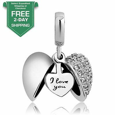 Heart I Love You Authentic Pandora Charms Bracelet Necklaces Silver Women's Gift