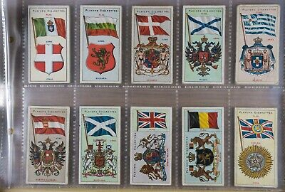John Player & Sons Flags (Thick) 1905 Cigarette Cards set of 50