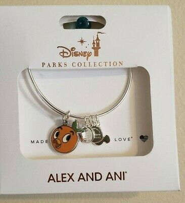 Disney Parks Alex & and Ani Orange Bird Silver Bracelet NEW