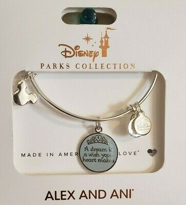 Alex and Ani DISNEY Cinderella A DREAM IS WISH YOUR HEART MAKES Silver Bracelet