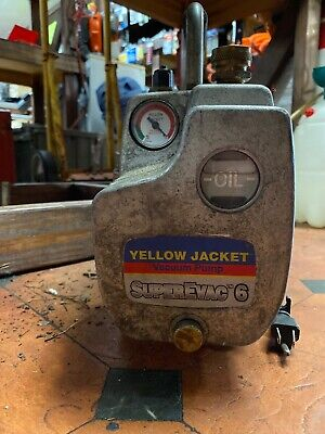 Yellow Jacket Superevac 93560 Two Stage 6 Cfm 115 Volt Vacuum Pump 1/2 Hp Usa