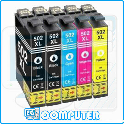 KIT 5 CARTUCCE EPSON COMPATIBILI T502XL WorkForce WF-2860DWF WF-2865DWF