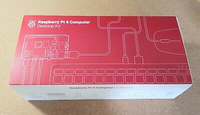 Raspberry Pi 4 Computer Desktop Kit Model B 4GB RAM New With Accessories