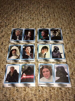2017 Topps Star Wars Journey to the Last Jedi Walmart Family Legacy set 6 cards