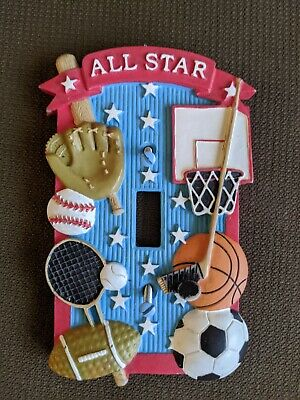 Children's Sport Themed Wall Switch Cover