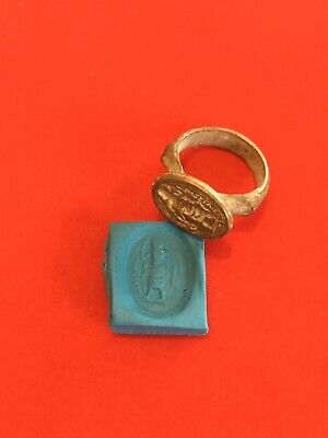 Roman Legionaries Seal Ring ,Metal Detecting Find. Historical Ring, No Reserve