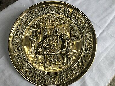 Arts And Craft Brass Decorative Plate