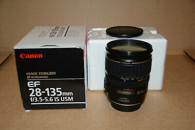 Canon EF 28-135mm f/3.5-5.6 IS USM Lens MINT Condition w/ Lens Caps TESTED