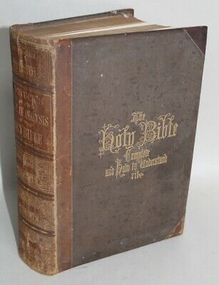 Antique 1870 HITCHCOCK'S NEW AND COMPLETE ANALYSIS OF THE HOLY BIBLE