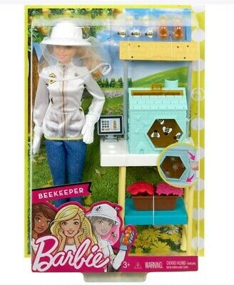 NEW Barbie Careers Beekeeper Doll and Beehive Playset Blonde Hair Gift for Girl