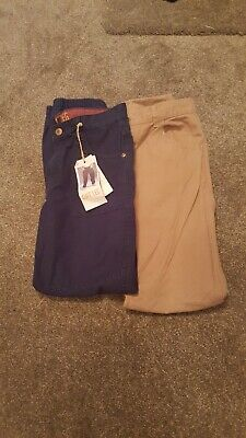 boys trousers 2 pairs age 11-12 one new 2nd hardly worn