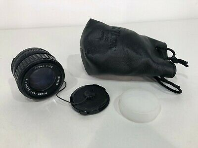 RARE Vtg NIKON Series E 100mm SLR f2.8 Camera Lens 35mm AI-S Portrait Film