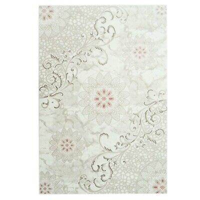 Contemporary Floral Pattern Durable Indoor Area Rug Carpet 4x6 5x7 6x9 8x10