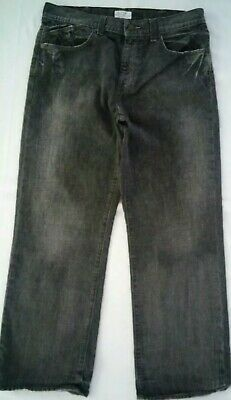EUC DKNY MEN'S RELAXED STRAIGHT LEG GRAY WASH HIGH RISE DENIM JEANS SIZE 36 x 30