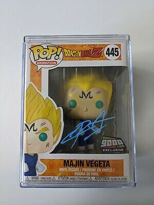 Funko POP! DBZ Majin Vegeta Signed by Chris Sabat Blue Over9000.com *POP STACK