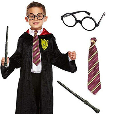 Childrens Kids Boys Wizard Childs Fancy Dress Costume World Book Day Outfit