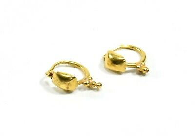 Ancient Roman Gold Pair Of Earrings