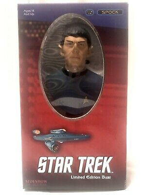 Sealed! Rare Sideshow Collections Star Trek Me. SPOCK LIMITED EDITION BUST New!