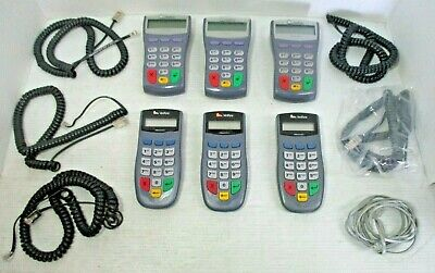 Lot of 6 VeriFone PINpad 1000SE Electronic PIN PAD with Cords Cables Credit Card